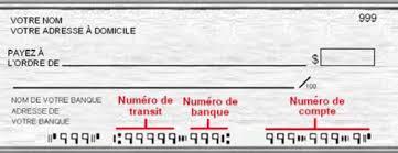 Spécimen de chèque